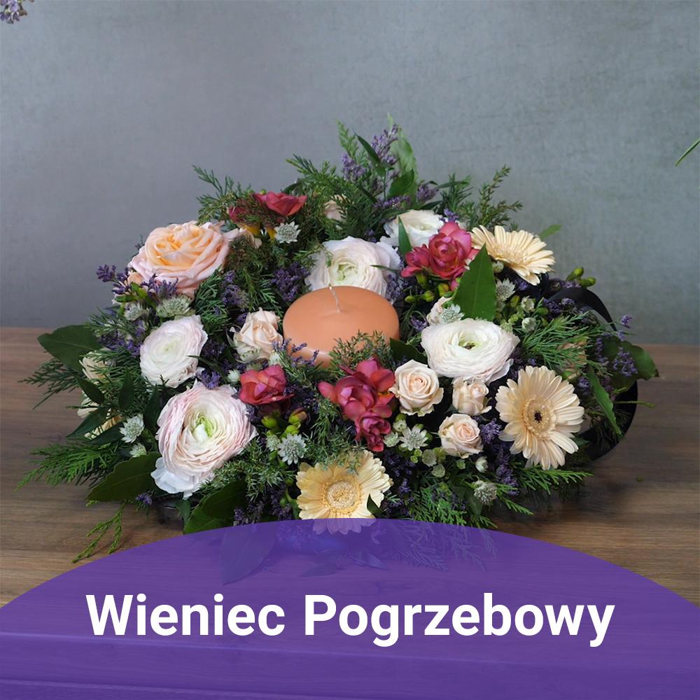 kompozycje funeralne na kształtce